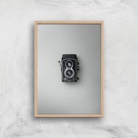 Old Camera Giclee Art Print - A4 - Wooden Frame - Electronics Gifts