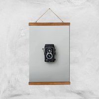 Old Camera Giclee Art Print - A3 - Wooden Hanger - Electronics Gifts