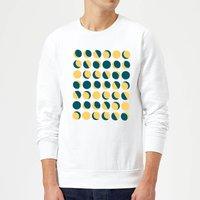 Moon Phase Pattern Sweatshirt - White - S - White