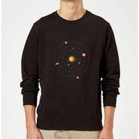 Solar System Sweatshirt - Black - L - Black