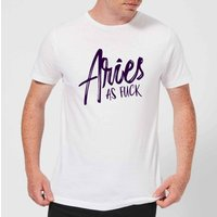 Aries As Fuck Men's T-Shirt - White - M - White