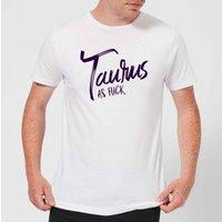 Taurus As Fuck Men's T-Shirt - White - XL - White
