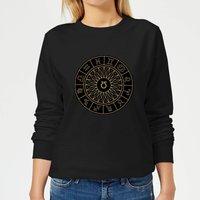 Decorative Horoscope Symbols Women's Sweatshirt - Black - XL - Black