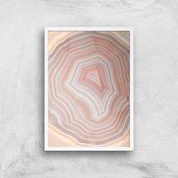 Coral Quartz Giclee Art Print - A4 - White Frame - Coral Gifts