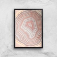 Coral Quartz Giclee Art Print - A4 - Black Frame - Coral Gifts