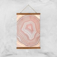 Coral Quartz Giclee Art Print - A3 - Wooden Hanger - Coral Gifts