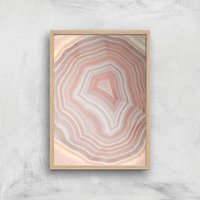 Coral Quartz Giclee Art Print - A3 - Wooden Frame - Coral Gifts