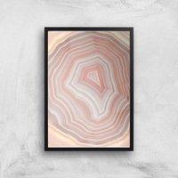 Coral Quartz Giclee Art Print - A2 - Black Frame - Coral Gifts