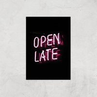 Open Late Giclee Art Print - A4 - Print Only