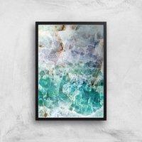 Turquoise Quartz Giclee Art Print - A2 - Black Frame