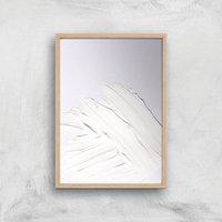 Minimal White Giclee Art Print - A3 - Wooden Frame