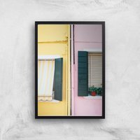Holiday Home Giclee Art Print - A4 - Black Frame - Holiday Gifts