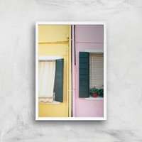 Holiday Home Giclee Art Print - A2 - White Frame - Holiday Gifts