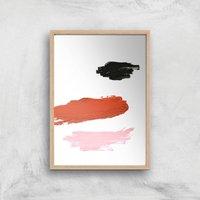 Peach Cheeks Giclee Art Print - A3 - Wooden Frame