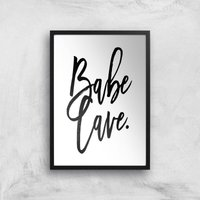 Babe Cave Giclee Art Print - A4 - Black Frame