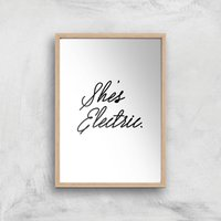 She's Electric Giclee Art Print - A3 - Wooden Frame