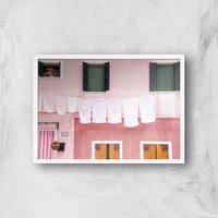 Dirty Laundry Giclee Art Print - A3 - White Frame