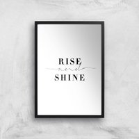 Rise And Shine Giclee Art Print - A3 - Black Frame