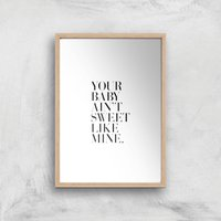 Your Baby Giclee Art Print - A4 - Wooden Frame - Baby Gifts