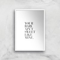 Your Baby Giclee Art Print - A4 - White Frame - Baby Gifts