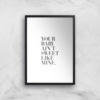Your Baby Giclee Art Print - A4 - Black Frame - Baby Gifts