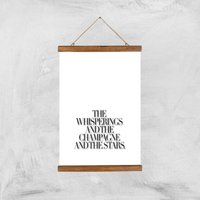 The Whisperings And The Champagne Giclee Art Print - A3 - Wooden Hanger - Alcohol Gifts
