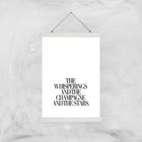 The Whisperings And The Champagne Giclee Art Print - A3 - White Hanger - Alcohol Gifts
