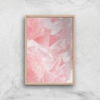 Love Quartz Giclee Art Print - A2 - Wooden Frame