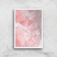 Love Quartz Giclee Art Print - A2 - White Frame - White Gifts