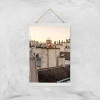 Paris At Dusk Giclee Art Print - A3 - White Hanger - White Gifts