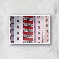 Inner City Blues Giclee Art Print - A4 - White Frame - White Gifts