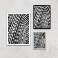 Wood Waves Giclee Art Print - A3 - White Hanger - White Gifts