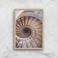 Spiralling Giclee Art Print - A4 - Wooden Frame - Frame Gifts