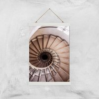 Spiralling Giclee Art Print - A3 - White Hanger - White Gifts