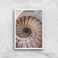 Spiralling Giclee Art Print - A3 - White Frame - Frame Gifts