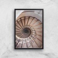 Spiralling Giclee Art Print - A3 - Black Frame - Frame Gifts
