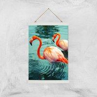 Flamingo Giclee Art Print - A3 - White Hanger - White Gifts
