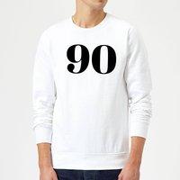 90 Sweatshirt - White - XXL - White