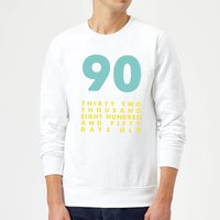 90 Thirty Two Thousand Eight Hundred And Fifty Days Old Sweatshirt - White - L - White