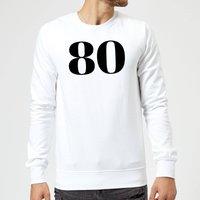 80 Sweatshirt - White - S - White