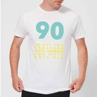 90 Thirty Two Thousand Eight Hundred And Fifty Days Old Men's T-Shirt - White - 4XL - White