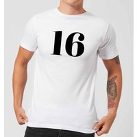 16 Men's T-Shirt - White - XL - White
