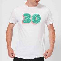 30 Dots Men's T-Shirt - White - 4XL - White