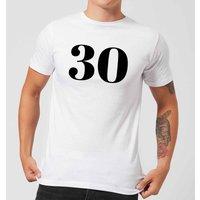 30 Men's T-Shirt - White - 5XL - White