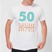 50 Eighteen Thousand Two Hundred And Fifty Days Old Men's T-Shirt - White - XS - White