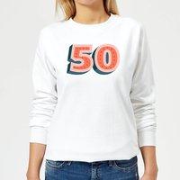 50 Dots Women's Sweatshirt - White - M - White