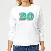 30 Dots Women's Sweatshirt - White - M - White