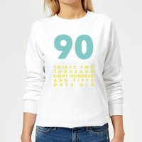 90 Thirty Two Thousand Eight Hundred And Fifty Days Old Women's Sweatshirt - White - XXL - White