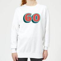 60 Dots Women's Sweatshirt - White - L - White