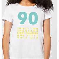 90 Thirty Two Thousand Eight Hundred And Fifty Days Old Women's T-Shirt - White - 4XL - White